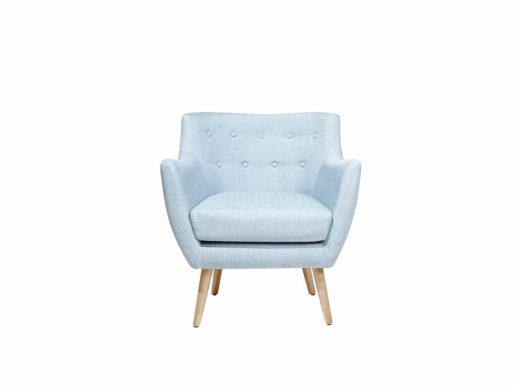 FOTEL DRAMMEN light blue