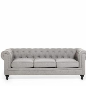 SOFA CHESTERFIELD 3-OS light grey